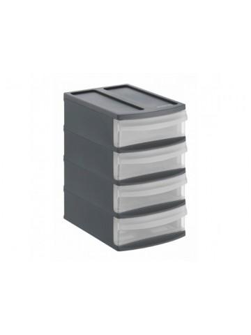 Regał z szufladami