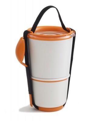 Lunch Pot, biało/pomarańczowy