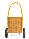 wózek na zakupy wiklinowy