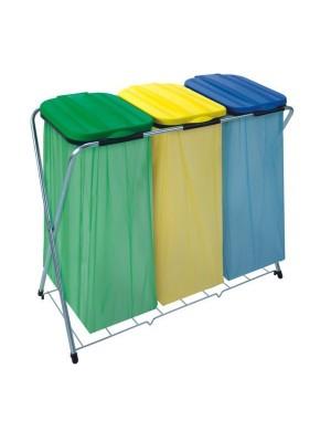 Kosz do segregacji odpadów stojak na worki SACKFIX 3