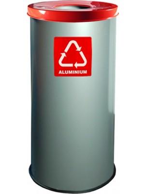 Kosz do segregacji odpadów stalowy EKO 45 litrów