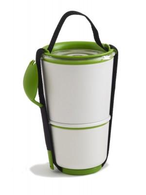 Lunch Pot, biało/zielony