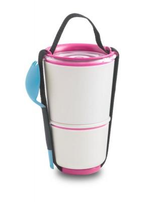 Lunch Pot, różowo-niebieski