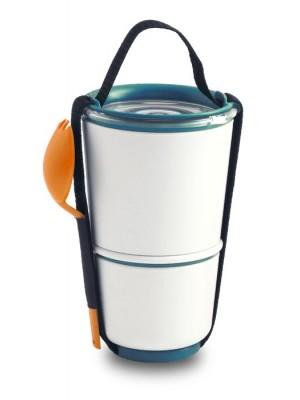 Lunch Pot, pomarańczowo-niebieski
